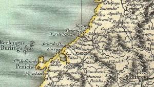 Historische Karte der Gegend um São Martinho do Porto