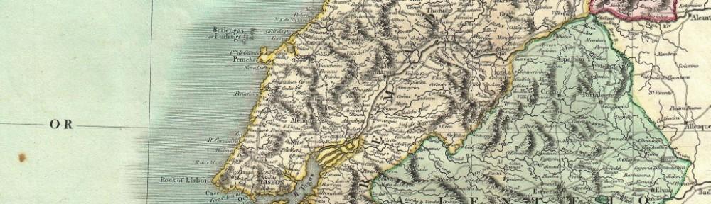 Karte Zentralportugal